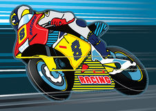 Motorbike racing. Vector illustration of a racing motorbike Royalty Free Stock Photo