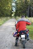 motorbike rear view Στοκ εικόνα με δικαίωμα ελεύθερης χρήσης