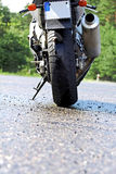 Motorbike - Rear View Stock Images
