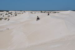 Motorbike Recreation on the Lancelin Sand Dunes: Western Australia Stock Image