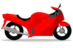 Motorbike red cartoon Royalty Free Stock Images