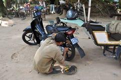 Motorbike Repair Shop Royalty Free Stock Photo