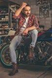 Motorbike repair shop Royalty Free Stock Photos