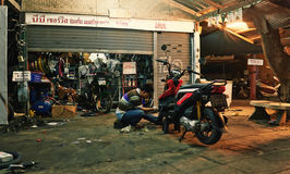 Motorbike repair Stock Image