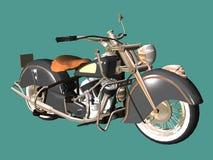 Motorbike retro. 3D isolated white background Royalty Free Stock Photography