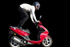 Motorbike rider Royalty Free Stock Images