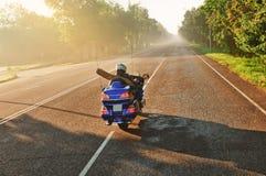 Motorbike rider Stock Image
