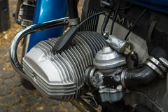 Motorbike's engine BMW R45, 1981. Royalty Free Stock Photography