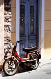 Motorbike in Samos. Old rusty motorbike in Samos Royalty Free Stock Photos