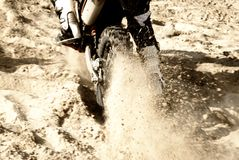 Motorbike on the sand Royalty Free Stock Photo