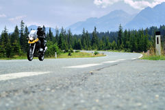 Motorbike On Scenic Drive Stock Image
