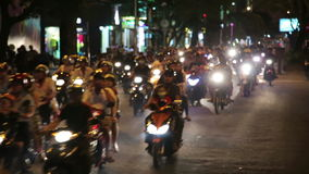 Motorbike scooter traffic,ho chi minh city,vietnam. Day time stock video