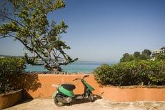 Motorbike by sea Royalty Free Stock Photo