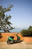 Motorbike by sea Royalty Free Stock Photos