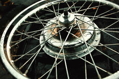 Motorbike shiny wheel Royalty Free Stock Images