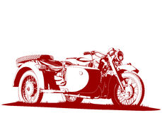 Motorbike sidecar illustration Royalty Free Stock Image
