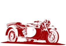 Motorbike sidecar illustration Royalty Free Stock Image