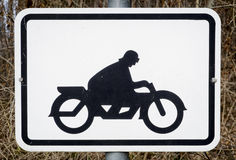 Motorbike sign Royalty Free Stock Images