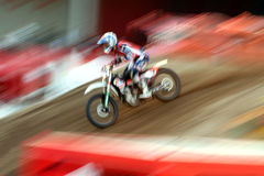 Motorbike Speed. High speed on a motocross Royalty Free Stock Images