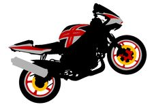 Motorbike of sport Stock Photography