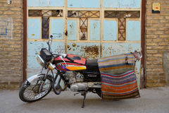 Motorbike in street of Yazd, southern Iran Royalty Free Stock Photo