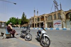 Motorbike in street of Yazd, southern Iran Stock Photos