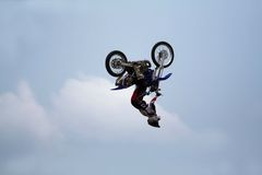 Motorbike Stunt Jump Royalty Free Stock Photos