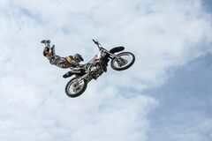 Motorbike stunt man