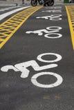 Motorbike Symbol at Street Crossing Royalty Free Stock Image