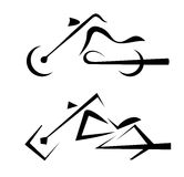 Motorbike symbol, tattoo Royalty Free Stock Photo