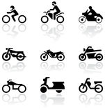 Motorbike symbol vector set. Stock Image
