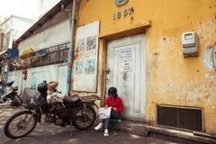 Motorbike taxi driver, Saigon Royalty Free Stock Image