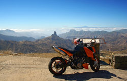 Motorbike tour in Gran Canaria Stock Photography
