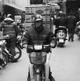 Motorbike traffic in Hanoi Royalty Free Stock Photo