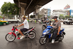 Motorbike traffic in Thailand Royalty Free Stock Photos