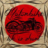 Motorbike Vintage Man T shirt Design Graphic Vector Royalty Free Stock Photography
