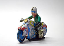 Motorbike vintage toy close up Stock Photos