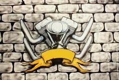 Motorbike wallpaper Royalty Free Stock Images