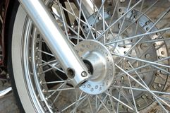 Motorbike wheel Stock Photography