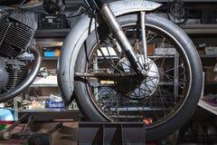 Motorbike wheel Royalty Free Stock Photos