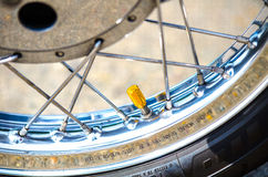 Motorbike wheel Stock Images