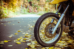 Motorbike wheel and tire Stock Photography