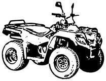 motorbikehjul för atv fyra royaltyfri illustrationer