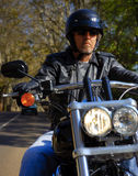 Motorbikemannen har frihet Fotografering för Bildbyråer
