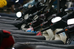 motorbikepark royaltyfria bilder