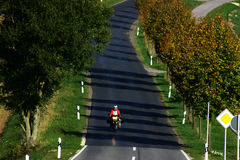Motorbiker Royaltyfria Foton