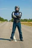 Motorbiker Stock Photo