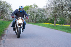 Motorbiker Royalty Free Stock Photography