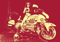 Motorbiker Photo libre de droits