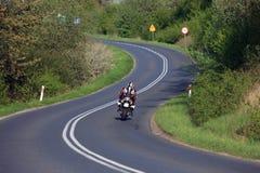 Motorbiker en Polonia Foto de archivo